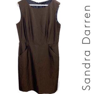 Sandra Darren Brown Career Sheath Dress Size 12